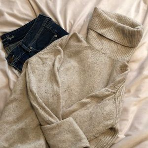 J Crew Cream Turtleneck sweater